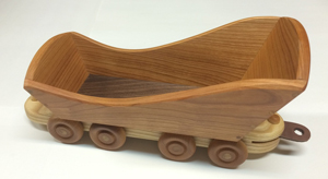 Sleigh train car of cherry wood