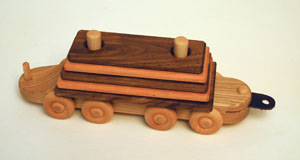 Lumber train car