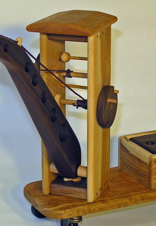 Riding Crane wooden children's construction toy