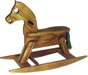 Children S Wooden Rocking Horse Black Walnut Wood Full Size Plans