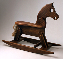 wood rocking horse toy