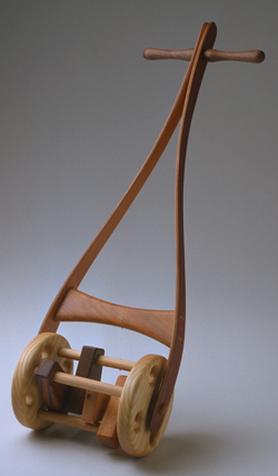 wood lawn mower toy
