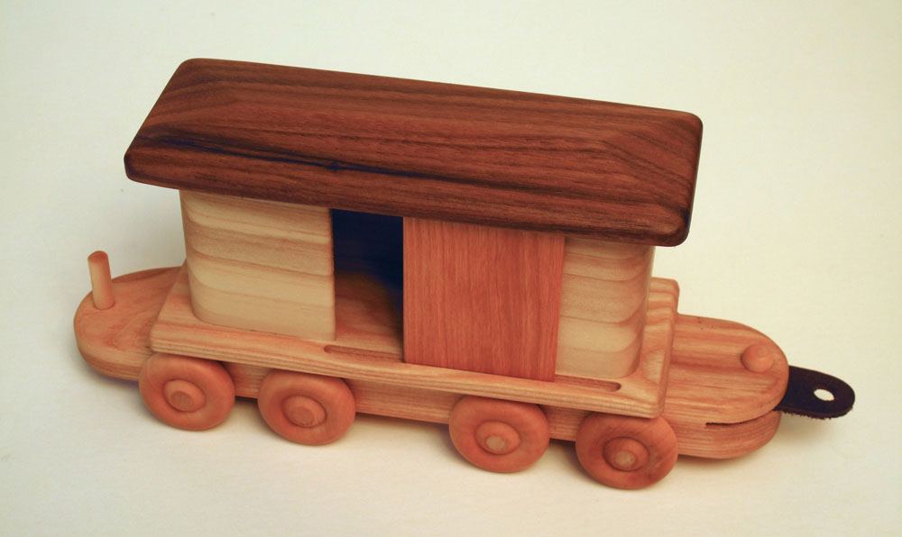 A Wooden Train Toy of beautiful Hardwoods